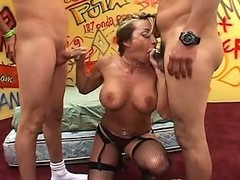 Anal, Gangbang, Mexican, White mature steps out and cheats with a mexican