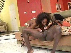 Ebony, Bus, Milf, Hot busty milf gets ass fucked