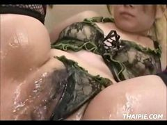 Asian, Teen, Orgasm, Stockings, Nice squirting orgasm
