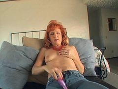 Dildo, Mature, Redhead, Mother russian redhead
