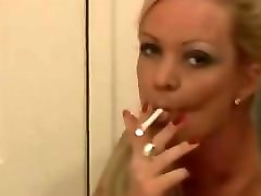 Blonde, Fetish, Smoking, Dancing smoking fetish brunette