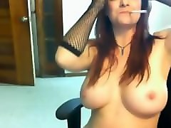 Smoking, French mature webcam