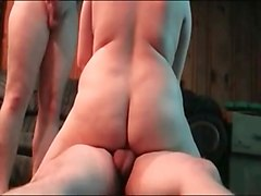 Amateur, Threesome, Ass to mouth amateur threesome