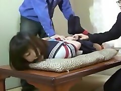Gagging, Tied, Japanese schoolgirl sex in classroom