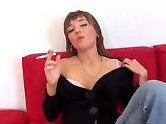 Smoking masturbating