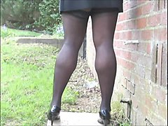 Mini skirt heels teen
