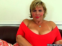 British, Milf, British stockings