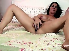 Milf, Strip, Mature stripped and fucked by cameraman
