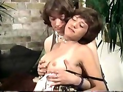 Hairy, Teen, Threesome, Vintage hairy pussy creampie gangbang
