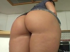 Housewife, Wife, Sexy horny brunette housewife craves for big