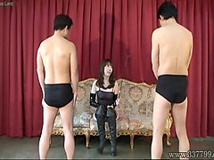 Japanese mistress whipping to slave