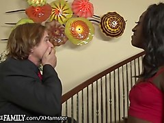 Black mom fucks sons friend