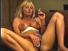 Blonde, Smoking, Masturbation, Smoking and masturbate hidden cam