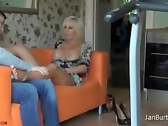 Massage, Ass, Young son with father fuck mom