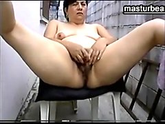 Amateur, Mature woman solo fucks her ass and pussy