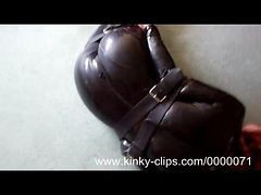 Leather, Latex, Tight, Bondage latex vibrator female solo