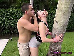 Teen, Tied, Dad pulls up skirt and fucks daughter