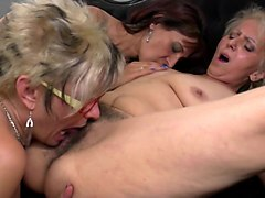 Lesbian, Bring flowers to hot mature mom and she will
