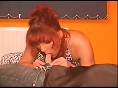 German, Sleeping german mom fucked from young son