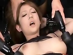 Japanese housewife big boob washing old man