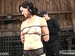 Nipples, Babe, Mistress in painful torture her slave