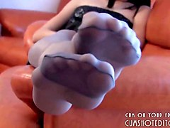 Amateur, Panties, Pantyhose, Amateur pantyhose footjob