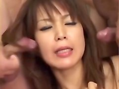 Bukkake, Japanese girls cum in mouth compilation