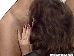 Anal, Homemade mature amateur fat brunette fucked satin