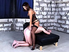 Fetish, Slave, Doll, French mature mistress piss in slave mouth