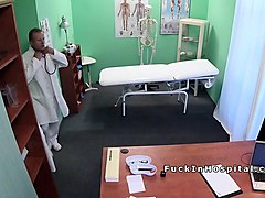 Blonde, Doctor, Office, Teen, Japanese doctor patient was humiliate