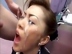 Bukkake, Black girl cum in mouth