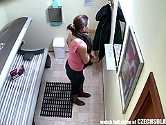 Czech, Public, Solarium, Czech streets full videos