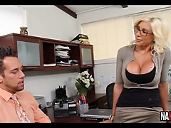 Blonde, Big titted japanese working with bosses