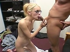 Blonde, Flat chested asian gangbang