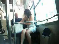 Bus, French, Upskirt, On bus asian