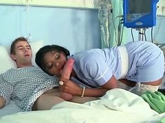 Black, Nurse, Nurse gives prostate massage