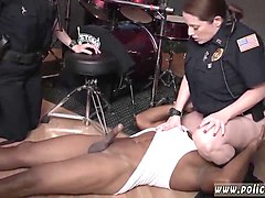 Ebony, Police, Threesome, Group rough