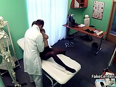 Doctor, Office, Old doctor abuse male patient