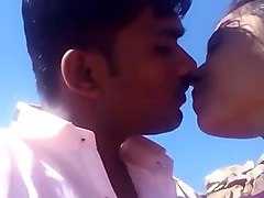 Indian, Kissing, Telugu village school girl fucking with servant