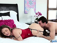 Milf, Son and mom are alone and mom fuck son big cock
