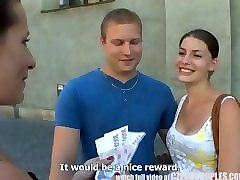 Czech, Foursome, Public, Couple, Money, Czech tv leo