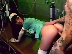 Nurse, Smoking milf blowjob