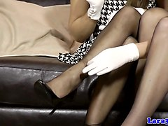 Babe, British mature in stockings