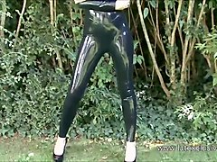 Fetish, Rubber, Babe, Beauty, Latex, Teen, Heels, Laura latex solo
