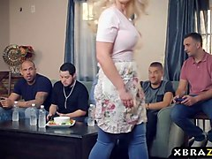 Gangbang, Hd, Party, Mom gangbanged by huge black cock