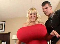 Big tits mature blonde