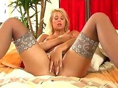 Bus, Blonde, Stockings, Busty blonde milf femdom