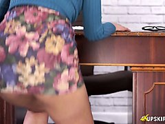 Panties, Secretary, Mature office secretary fucked in latex by boss