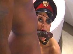 Black, Fetish, Facial, Big black cock for hot chick