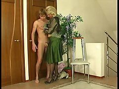 Russian, Russian mature son fuck while father work